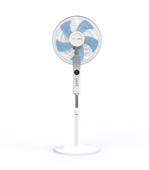 ZERMATT 3050 W Ventilador de pie con display blanco 50W