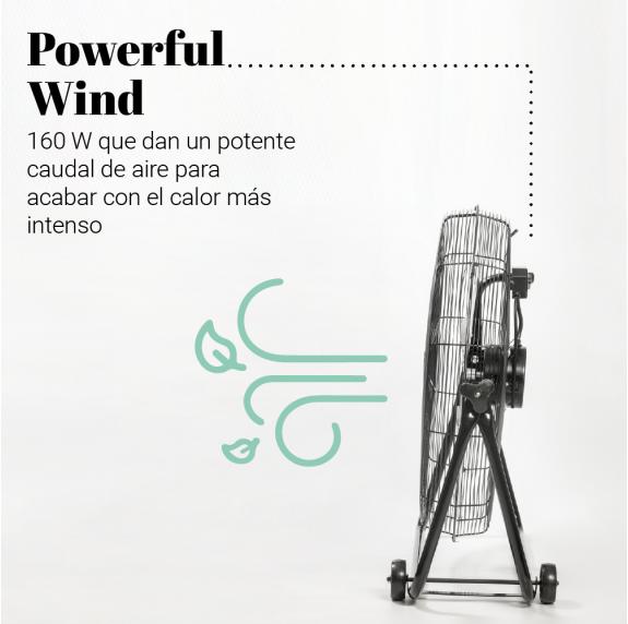 ASTÚN 3016 Ventilador industrial de suelo 160W