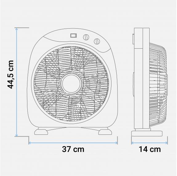 ventilador de suelo 50W color blanco