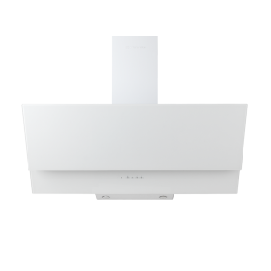 ESTELA Campana decorativa de cristal blanca de 90 cm