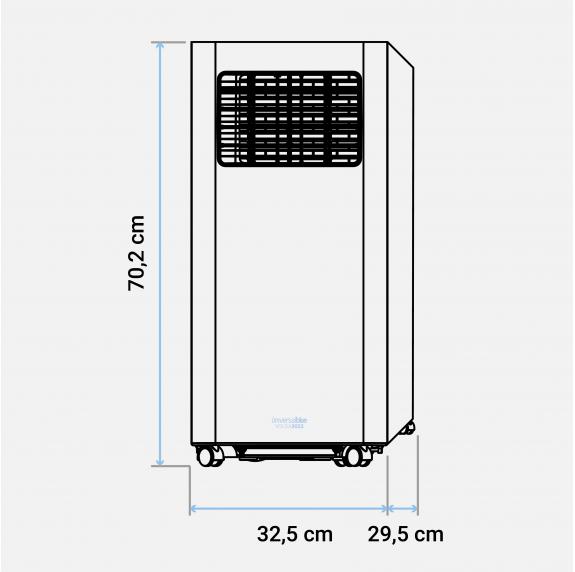 VOLGA 3017 Aire acondicionado portatil 1750 Frigorías