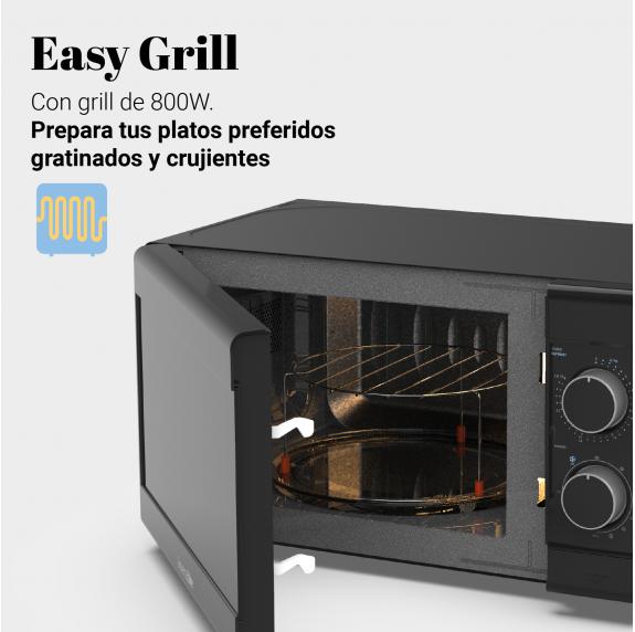 SPEEDYBAKE 3021 Microondas con grill negro