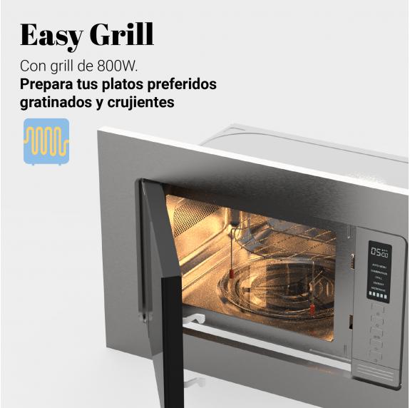 SPEEDYBAKE 3025 Microondas integrable con grill inox