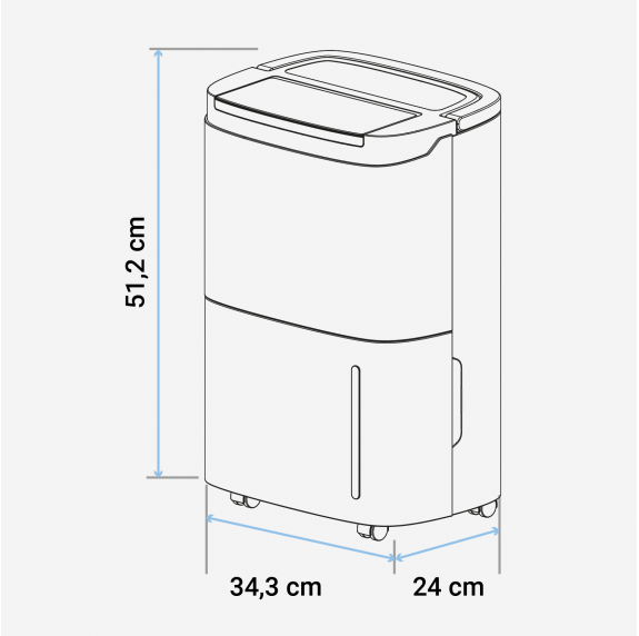 GRAZALEMA 3020 Deshumidificador 20 litros