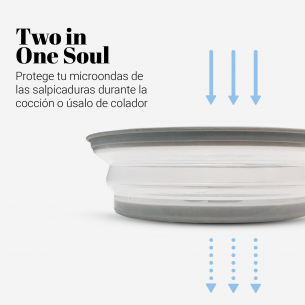 Tapa plegable para microondas