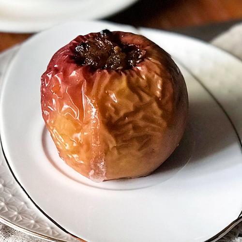 manzanas asadas en microondas